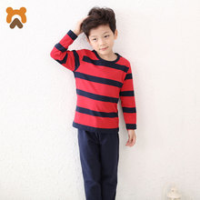 Buy Boys Pajamas Sets Kids Long Striped Cotton Spandex Knitted Children Pajama Set Baby Boys Kids Sleepwear Pyjamas Teenagers for $10.67 in AliExpress store
