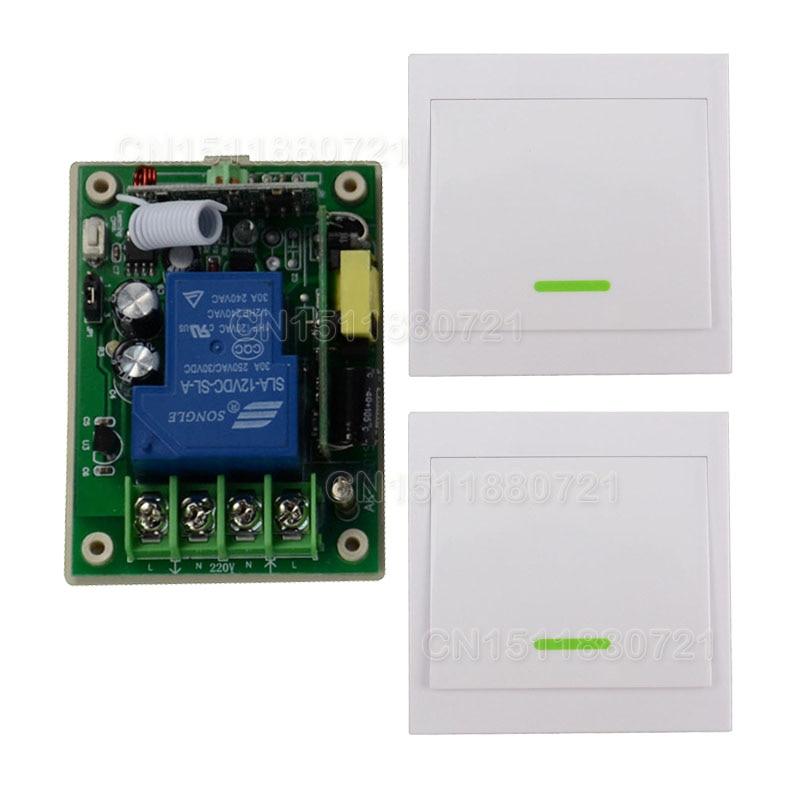Smart Home AC85V- 250V 110V 220V 3000W RF Wireless Remote Control Switch System For Light Lights With 2PCS Wall Transmitter<br><br>Aliexpress