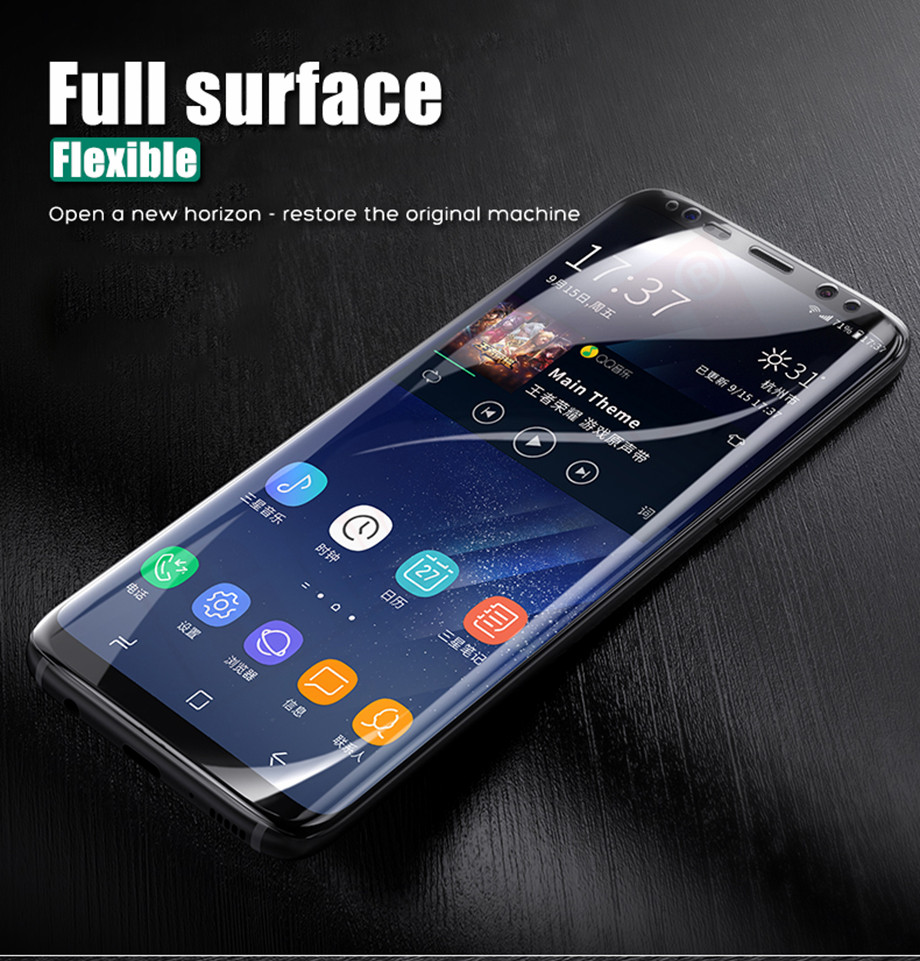1-PC-For Samsung Galaxy S8 Screen Protective Edge Film For Samsung S9 Plus  Screen Protector