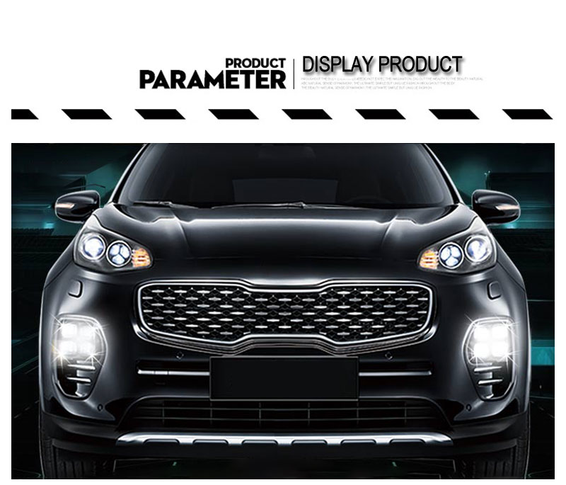 LED Daytime Running Lights DRL For KIA Sportage QL KX5 2016 2017 Car Driving Light Fog Lamp Hole Car-styling Auto Accessories (8)