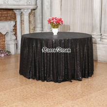 Round Sequin TableCloth Wedding Beautiful Sequin Table Cloth / Overlay /Cover size 17 colors 120inch round sequin table cloth