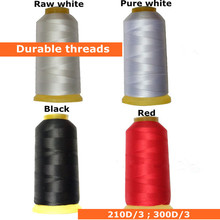 210D High Durable polyester black thread for Leather/Jeans/Sofa sewing machine cable threads(China)