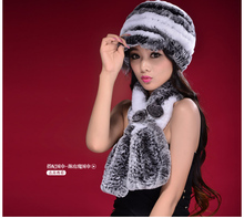 New Arrival 2016 Woman Real Rex Rabbit Fur Hat Fashion Knitted Casual Cap Winter Warm Headgear Beanies For Women