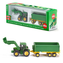 SIKU German/1:87 Sclae/Diecast Metal Model/JD tractor and Trailer Car/Educational toy for children's gift or collection(China)