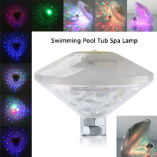 AAA LED Light Floating Underwater RGB LED Disco Light Swimming Pool Tub Party Spa Lamp DJ lamp Pond Aquarium Diamond Shape(China)