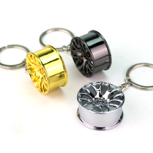 Hot Car Styling Metal Keychain Cool Luxury Wheel Hub Pendent Key Ring Fit For Car BMW VW Audi Toyota Honda Ford Cool Accessories(China)
