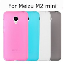 New Candy color soft silicone TPU gel back cover case for Meizu M2 mini Meilan 2 with screen film and stylus pen