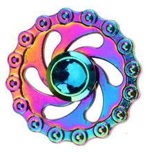 Buy Colorful Rainbow Metal Chain Fire Wheel Fidget Spinner Metal Fingertip Gyro Hand Tri-Spinner EDC Autism ADHD Stress Relief Toys for $4.19 in AliExpress store
