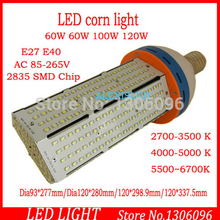 DHL E40 E27 60w / 80W / 100w / 120w AC85-265V led corn light high power light for US special warehouse light / high bay lamp