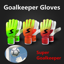 Jessica's Store Goalkeeper Goalie Keeper Gloves Roll Finger Soccer Goalie Gloves Football Gift(China)