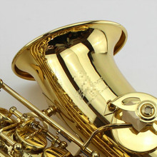 2017 New Custom Alto Saxophone Gold Lacquer Brass Instruments Professional Sax Mouthpiece With Case and Accessories(China)