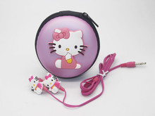 Cartoon Hello Kitty 3.5mm Jack Music Headset Earphone for iPhone Cellphone MP3 Cute Earphone for Cellphone Gift for Child(China)