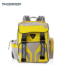 TRANSFORMERS cartoon children/kids portfolio orthopedic ergonomic school bag shoulder backpack for boys grade 1-3