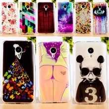 DIY Painted Soft TPU & Hard Plastic Phone Case For Meizu MX4 MX 4 Cell Phone Cover Anti-Knock Function Phone Bags