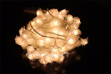 10M 100 led string lights Colorful Rose flower holiday wedding decoration lamp Festival Christmas lights indoor/outdoor lighting(China)