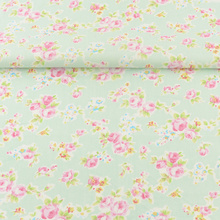 News Green Printed Floral Design Quilting Patchwork Bedding Decoration Sewing Twill Scrapbooking Home Textile 100% Cotton Fabric