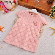 VORO BEVE 2017 New spring autumn baby girls knitting sweater vest kids children sweater infant baby cotton sweater(China)