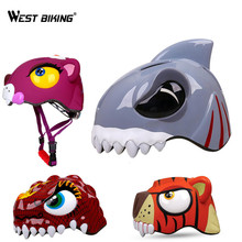 WEST BIKING Kids Bicycle Helmets Cartoon Bike Helmet Cycle Scooter Skateboard Protect Helmet Children Animal Safety Helmets