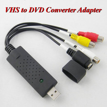 500set/LOT* VCR VHS to DVD Converter Adapter VIDEO CAPTURE CARD USB 2.0 Video TV DVD VHS Capture Adapter For Win8 7 XP 007(China)