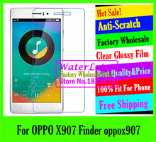 Clear Glossy mobile protective film to phone screen protector de pantalla projector LCD film case For OPPO X907 Finder oppox907