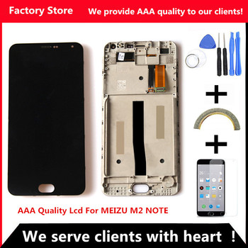 Q&Y QYJOY AAA Quality Frame Lcd Display Screen Replacement For MEIZU M2 Note