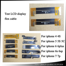 10pcs/lot Touch screen LCD display Extension Tester Test Flex Cable for iPhone 4 4S 5 5C 5S 6 6 6S 6S 7 Plus Extended Testing(China)