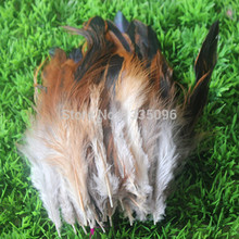"Wholesale natural 100 PCS Natural color pretty rooster feathers 15 to 20 cm / 6 to 8 ""DIY decoration clothes(China)"