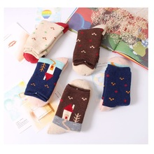 2017 Rushed Kids Socks Chirstmas Young Girl Socks Thick Warm Winter Cotton Wool X'mas Gift Ladies Clothes 5pair=10pc=lot New