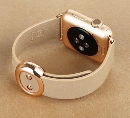 Genuine Leather Smooth leather with two piece magnetic closure for Apple WatchBand Modern Buckle Band Apple Watch 38mm beautiful<br><br>Aliexpress