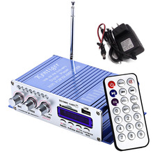 Motorcycle USB FM Audio Car Stereo Amplifier Radio MP3 Speaker LED Hi-Fi 2 Channel Digital Display Power Player(China)