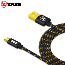 ZRSE Micro USB Cable 24K Gold Plated Nylon Braided Fast Charge USB Data Cable For Samsung 1m 2m 3m for Android Charger Cable(China)
