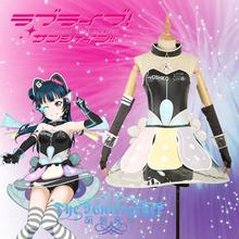 STOCK Anime Love live Sunshine!Qours Video Game Awaken Tsushima Yoshiko Cosplay Costume For Halloween Carnival Free Shipping