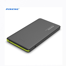 New Arrival PINENG PN -952 Built-in Vibrating Switch 5000mAh Ultra Slim Power Bank Hidden USB Cable 8 Pin 2 in 1 Charging Supply(China)