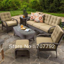 North Mowing Outdoor furniture Wicker 6PC Sofa Conversation Set