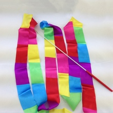 Super Sell Colorful 4m Gym Dance Ribbon Rhythmic  Twirling Products Sports Art Gymnastic Streamer