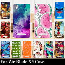 Case For Zte Blade X3 Colorful Printing Drawing Transparent Plastic Mobile Phone Cover For Hard Phone Cases