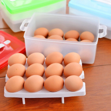 Egg box egg fresh tool box 24 boxes two layer deck convenient carry egg container carrier case casket high big capacity(China)
