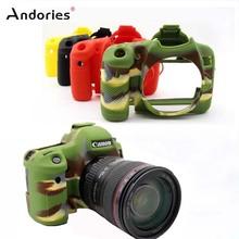 Andories 70D Camera Bag Soft Silicone Rubber Protective Camera Body Cover Case Skin for Canon EOS 70D Camouflage Black Red Green(China)