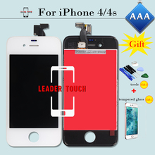 100% Test & No Dead Pixel AAA for iPhone 4 LCD Display&Touch Glass Screen Digitizer Assembly Replacement Black/White+tools+gifts
