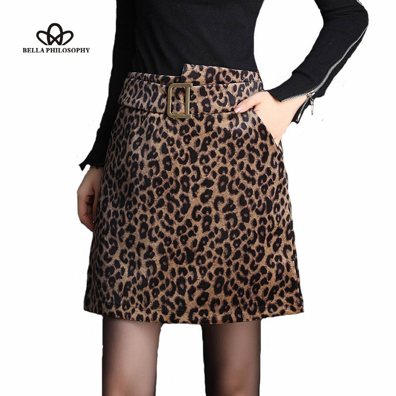 Wonder 2019 new Spring Leopard Velvet Mini Skirts Vintage Sashes Female High Waist A-Line Skirts Casual Animal Print Lady Skirts