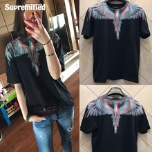 SUPREMITIED Marcelo Burlon T Shirt Italy Men Eagle Brand Clothing High Quality Catton Hip Hop Top Version Paris 3D Logo MB Tees