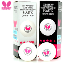 Butterfly original 3 Piece  Pingpong Balls 40 three 3 Star  ITTF Approved for tournament World Table Tennis Championships