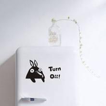 1Pcs 17*10cm Turn Off Rabbit Switch Sticker Decoration for Home Room Decor diy Wall Decals posters stickers muraux 45206