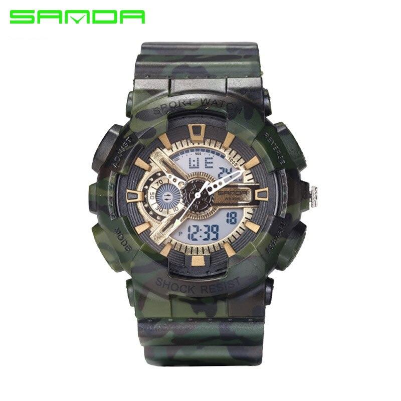 SANDA Brand Men Sports Watches Dual Display Analog Digital LED Electronic Quartz Watches 30M Waterproof Swimming Watch Relogio<br><br>Aliexpress