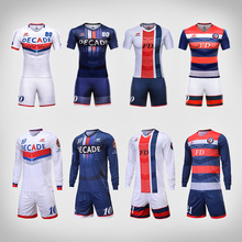 Professional design mens football uniforms kit quick dry breathable football team shirt custom sublimation blank soccer jerseys(China)