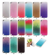 case for iPod touch 6 fashion bling ladder gradation color thin TPU soft silicone cover case For apple iphone ipod touch 5 cases(China)
