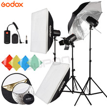 NEWEST 120DI 360Ws GODOX 3*120Ws Pro Photography Studio Strobe Flash Light 360W Kit(China)