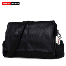 MAGIC UNION Men Leather Shoulder Bag Envelope Style Bag Large-capacity Messenger Bags High Quality Men's Leather Handbags(China)