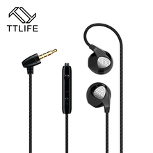 TTLIFE Sport Earphones With Microphone Running Noise Cancelling Earbuds Stereo Super Bass Music Earphone For All Mobile Phone