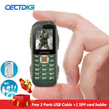 Smallest Rugged Phone Cectdigi T8600 Unlocked Dual Sim Military Power Bank Cell Phone Double Torch Wireless FM Russian Keyboard